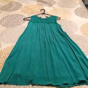 A line teal dress
